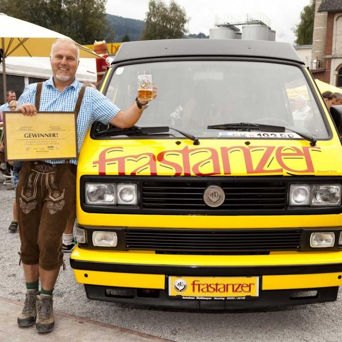 Frastanz am 18.9.2016 Brauerei Frastanzer, Festumzug, Verlosung VW-Bus.
